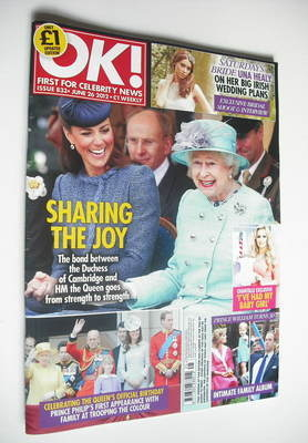 <!--2012-06-26-->OK! magazine - The Queen & The Duchess of Cambridge cover