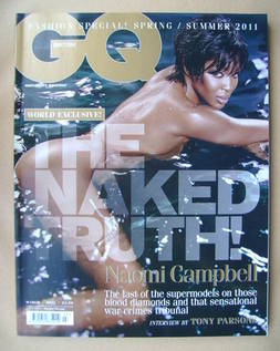 <!--2011-03-->British GQ magazine - March 2011 - Naomi Campbell cover