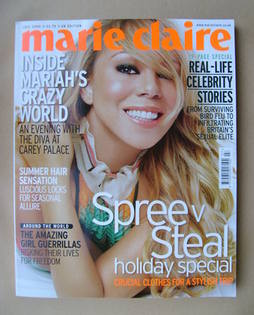 <!--2006-07-->British Marie Claire magazine - July 2006 - Mariah Carey cove