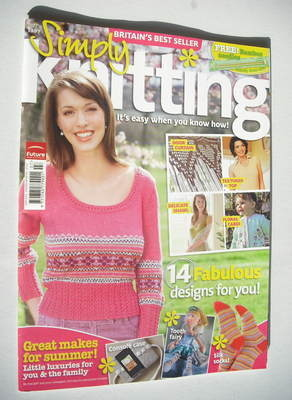 Simply Knitting magazine (Issue 43 - July 2008)