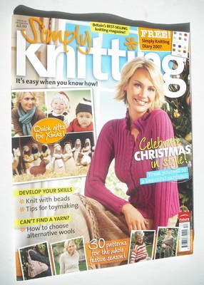 Simply Knitting magazine (Issue 22 - December 2006)