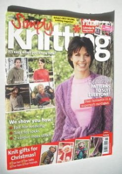 <!--2006-11-->Simply Knitting magazine (Issue 21 - November 2006)
