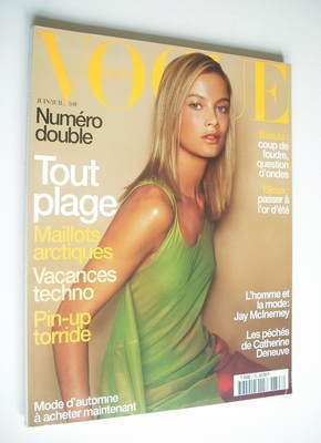 <!--1999-06-->French Paris Vogue magazine - June-July 1999 - Carolyn Murphy
