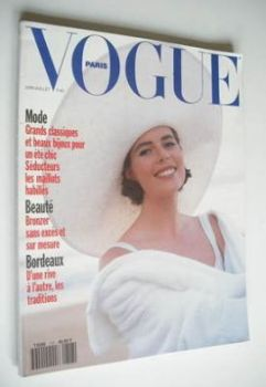 French Paris Vogue magazine - June-July 1991 - Claudia Van Ryssen cover