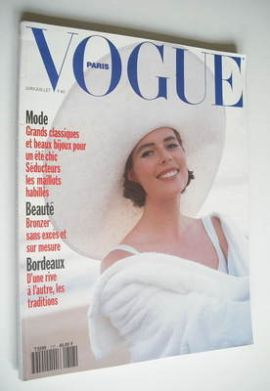 <!--1991-06-->French Paris Vogue magazine - June-July 1991 - Claudia Van Ry