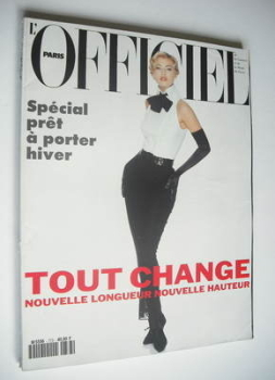 L'Officiel Paris magazine (August 1992 - Daniela Pestova cover)