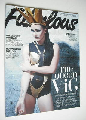 <!--2012-09-02-->Fabulous magazine - Victoria Pendleton cover (2 September