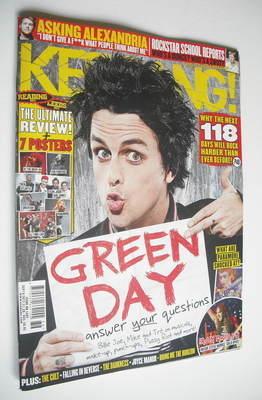 <!--2012-09-08-->Kerrang magazine - Green Day cover (8 September 2012 - Iss