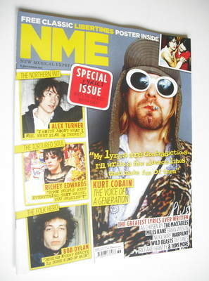 <!--2012-09-08-->NME magazine - Kurt Cobain cover (8 September 2012)