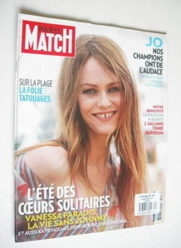 Paris Match magazine - 26 July 2012 - Vanessa Paradis cover
