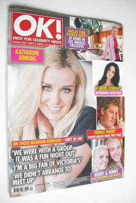 <!--2012-09-04-->OK! magazine - Katherine Jenkins cover (4 September 2012 -