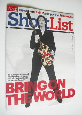 ShortList magazine - Paul McCartney cover (26 July 2012)