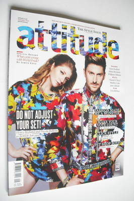 <!--2012-09-->Attitude magazine - Nicola Roberts & Henry Holland cover (Sep