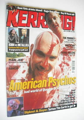 <!--2000-07-29-->Kerrang magazine - Queens Of The Stone Age cover (29 July