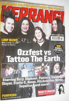 <!--2000-08-12-->Kerrang magazine - Ozzfest vs Tattoo The Earth cover (12 A