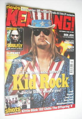 <!--2000-09-02-->Kerrang magazine - Kid Rock cover (2 September 2000 - Issu