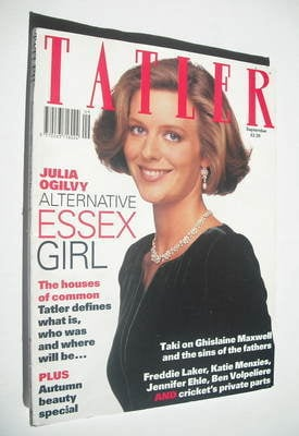 <!--1992-09-->Tatler magazine - September 1992 - Julia Ogilvy cover