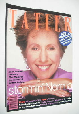 <!--1992-10-->Tatler magazine - October 1992 - Norma Major cover