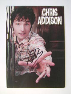 Chris Addison autograph (hand-signed photograph)