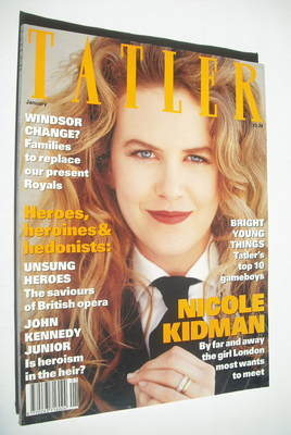 <!--1993-01-->Tatler magazine - January 1993 - Nicole Kidman cover