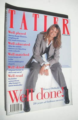 <!--1993-11-->Tatler magazine - November 1993 - Serena Scott Thomas cover