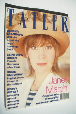 <!--1993-06-->Tatler magazine - June 1993 - Janet March cover