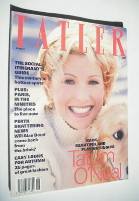 <!--1993-08-->Tatler magazine - August 1993 - Tatum O'Neal cover