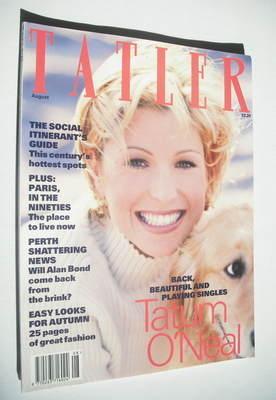 <!--1993-08-->Tatler magazine - August 1993 - Tatum O'Neal cover