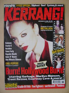 <!--1999-11-20-->Kerrang magazine - Shirley Manson cover (20 November 1999