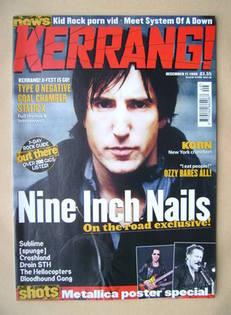 <!--1999-12-11-->Kerrang magazine - Trent Reznor cover (11 December 1999 -