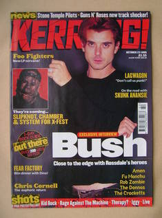 <!--1999-10-23-->Kerrang magazine - Gavin Rossdale cover (23 October 1999 -