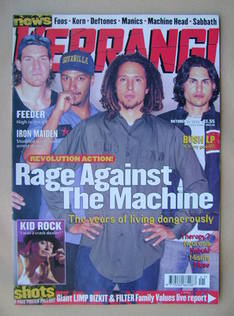 <!--1999-10-16-->Kerrang magazine - Rage Against The Machine cover (16 Octo