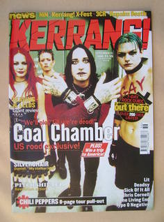 <!--1999-09-11-->Kerrang magazine - Coal Chamber cover (11 September 1999 -