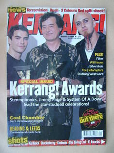 <!--1999-08-28-->Kerrang magazine - Kerrang! Awards cover (28 August 1999 -