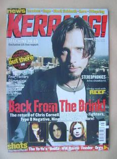 <!--1999-09-04-->Kerrang magazine - Chris Cornell cover (4 September 1999 -