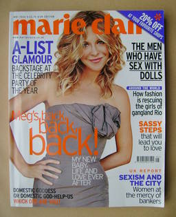<!--2006-05-->British Marie Claire magazine - May 2006 - Meg Ryan cover