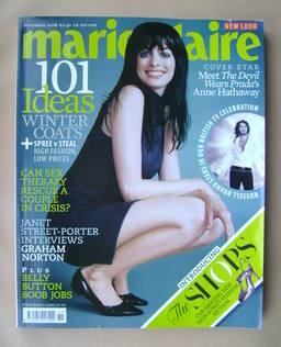 <!--2006-11-->British Marie Claire magazine - November 2006 - Anne Hathaway