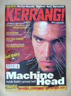 <!--1999-08-14-->Kerrang magazine - Robb Flynn cover (14 August 1999 - Issu
