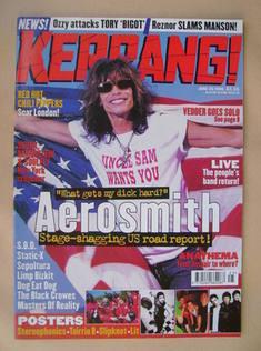 <!--1999-06-26-->Kerrang magazine - Steven Tyler cover (26 June 1999 - Issu