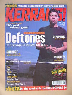 <!--1999-07-03-->Kerrang magazine - Chino Moreno cover (3 July 1999 - Issue