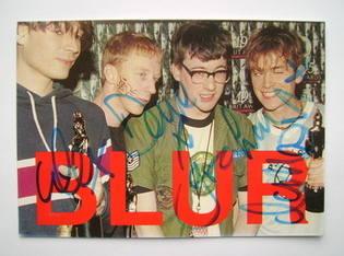 Blur autographs