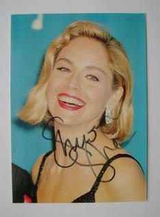 Sharon Stone autograph