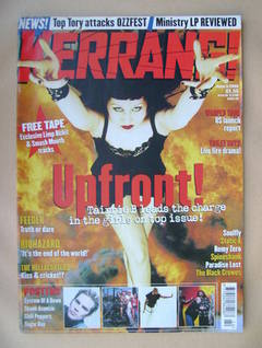 <!--1999-06-05-->Kerrang magazine - Tairrie B cover (5 June 1999 - Issue 75