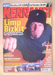 <!--1999-06-19-->Kerrang magazine - Fred Durst cover (19 June 1999 - Issue