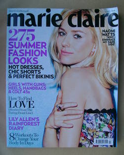 <!--2010-07-->British Marie Claire magazine - July 2010 - Naomi Watts cover