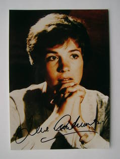 Julie Andrews autograph