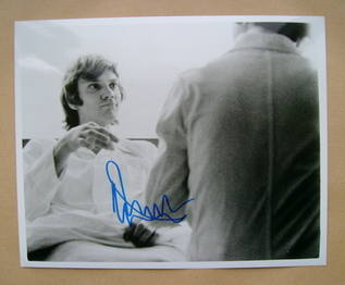 Malcolm McDowell autograph