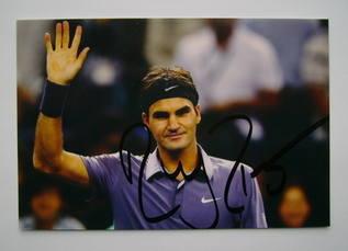 Roger Federer autograph