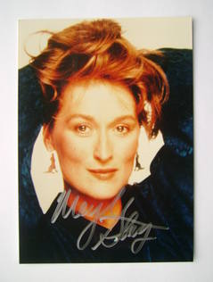 Meryl Streep autograph