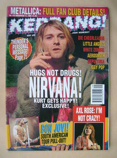 <!--1993-12-11-->Kerrang magazine - Kurt Cobain cover (11 December 1993 - I